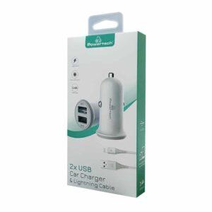 Καλώδιο POWERTECH Lightning PT 774 2x USB 3.4A