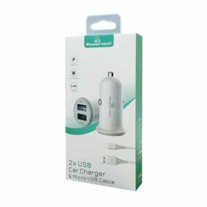 με Καλώδιο POWERTECH Micro USB PT 772 2x USB 3.4A