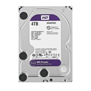 Δίσκος HDD WD 3.5'' Purple Surveillance 4TB, 64MB, 5400RPM, SATA III