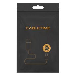 Καλώδιο CABLETIME HDMI 2.0 AV566, 5m, Μαύρο_1