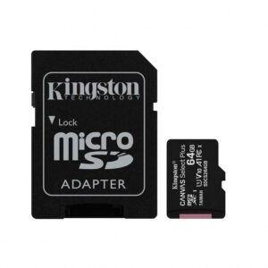 Kingston Micro SDHC 64GB Canvas Select Plus Class 10 adapter