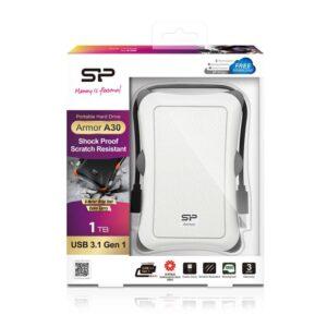 Δίσκος SILICON POWER HDD 1TB Armor A30 USB 3.1 Λευκό_1