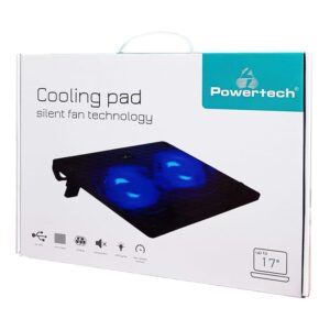 laptop POWERTECH PT 739 έως 17 2x 120mm fan LED Μαύρο