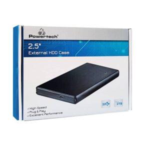POWERTECH για HDD 2.5 έως 2TB USB 2.0 Μαύρη