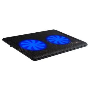 Ψύξη laptop POWERTECH έως 15.6 2x 125mm fan LED Μαύρο