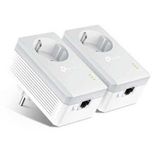 AV600 TP LINK Passthrough Powerline Starter Kit TL PA4010P Ver. 4.0