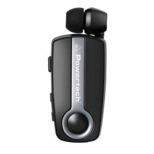 Bluetooth POWERTECH Earphone Klipp Multipoint BT V4.1 Ασημί
