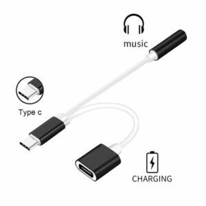 Converter POWERTECH USB Type C σε 3.5mm Θηλυκό USB Type C Λευκό_1