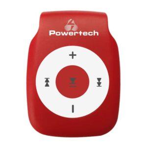 MP3 Player POWERTECH με clip Επαναφορτιζόμενο microSD Κόκκινο