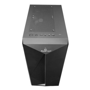 PC POWERTECH Gaming tempered glass 80mm fan PSU 500W_1