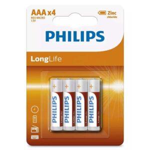 PHILIPS LongLife Zinq chloride AAA R03 Micro 4τμχ