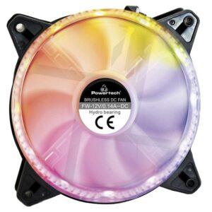 POWERTECH LED 120mm Dual ring 6pin RGB