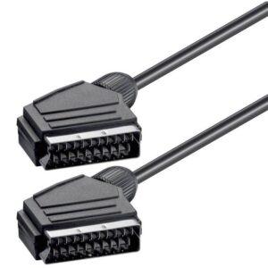 POWERTECH Scart 21pin σε Scart 21pin CAB S001 1.4m Μαύρο