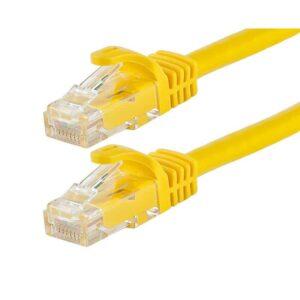 POWERTECH UTP Cat 5e CAB N056 CCA 0.5m Κίτρινο