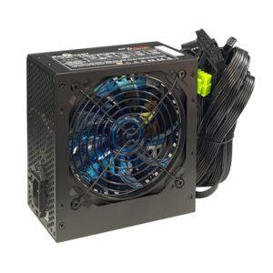 PSU POWERTECH Μπλε LED fan 500W