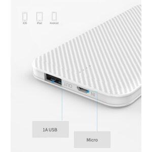 Powerbank GOLF Phantom G38-WH 5000mAh, 1x USB, Micro input, 1A, λευκό_2