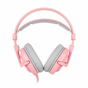 SADES Gaming Headset A6 Multiplatform USB LED Ροζ