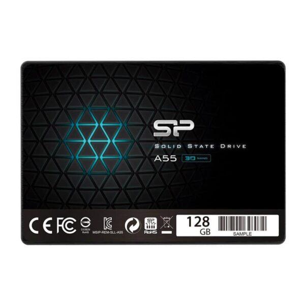 SSD SILICON POWER A55 128GB, 2.5', SATA III, 550-420MB s 7mm, TLC