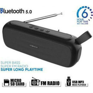 Sonic Gear Super Bass Ηχείο Bluetooth 20W με Ραδιόφωνο και 6 ώρες Λειτουργίας Black