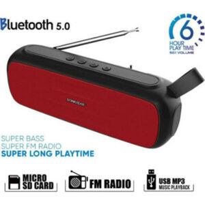 Sonic Gear Super Bass Ηχείο Bluetooth 20W με Ραδιόφωνο Red