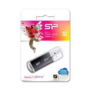 USB Flash Drive SILICON POWER Ultima U02 32GB USB 2.0 Μαύρο