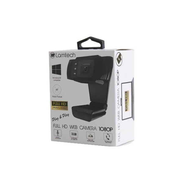 WEB CAMERA LAMTECH FULL HD USB WITH LED 1080P_1