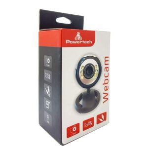 Web Camera POWERTECH 1.3MP Plug and Play Μαύρη_1