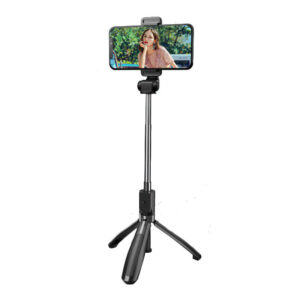 XO SS08 Selfie Stick Τρίποδο Κινητού με Bluetooth Μαύρο