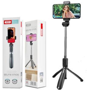 XO SS08 Selfie Stick Τρίποδο Κινητού με Bluetooth Μαύρο_1
